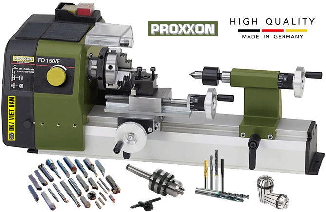 May tien mini van nang Proxxon FD 150/E, Proxxon Mini Lathe FD 150/E, Germany